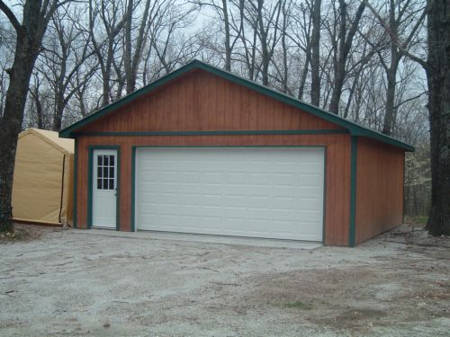 24x24 2 car garage good will builders inc for 24x24 garage plans